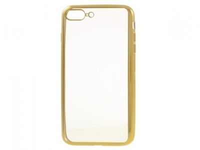 Plating Edge Clear TPU Protection Case for iPhone 7 Plus / 8 Plus - Gold