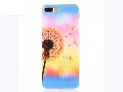 Soft IMD TPU Shell Cover for iPhone 7 Plus /  8 Plus - Dandelion Pattern