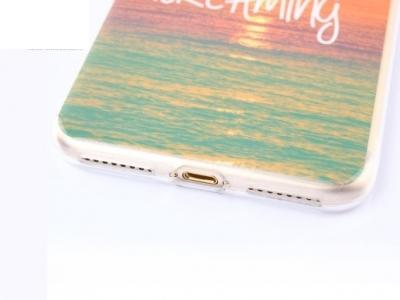Ултра тънък силиконов протектор за iPhone 7 Plus / 8 Plus- Never Stop Dreaming