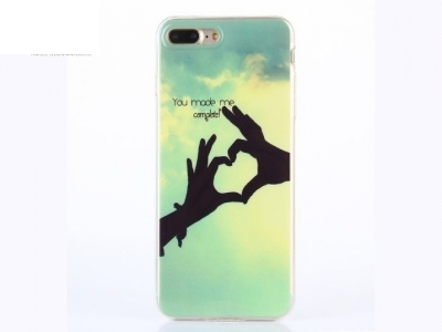 Soft IMD TPU Cover for iPhone 7 Plus / 8 Plus - You Made me Complete