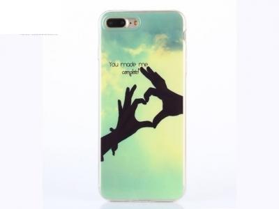 Ултра тънък силиконов протектор за iPhone 7 Plus / 8 Plus - You Made me Complete