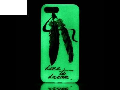 Флуоресциращ калъф за iPhone 7 Plus / 8 Plus - Текстура - Перо