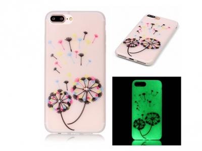 Luminous Glow TPU Phone Case for iPhone 7 Plus / 8 Plus - Colored Dandelion