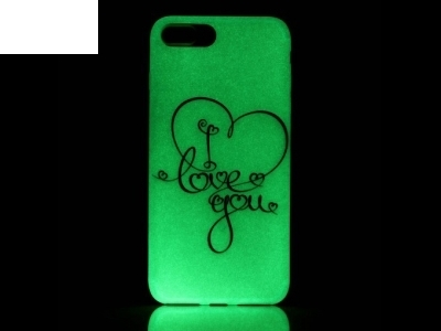 Флуоресциращ калъф за iPhone 7 Plus 5.5 inch - Текстура - I Love You