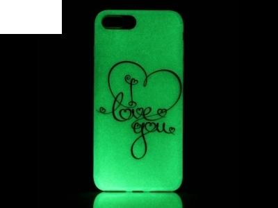 Luminous Glow TPU Back Case for iPhone 7 Plus / 8 Plus - I Love You Pattern