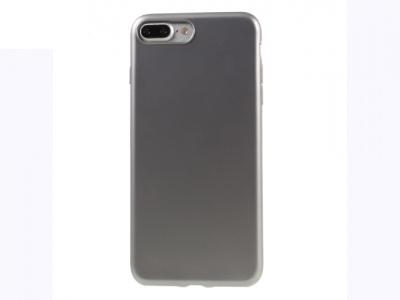 Ултра тънък силиконов протектор за iPhone 7 Plus / 8 Plus - Сив металик
