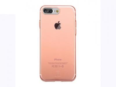 Ултра тънък силиконов протектор за iPhone 7 Plus / 8 Plus - Прозрачен - розов