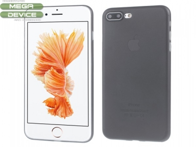 Ултра тънък  силиконов протектор за iPhone 7 Plus 5.5 inch - Черен