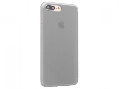 Ултра тънък твърд силиконов протектор iPhone 7 Plus 5.5 - Прозрачен Черен