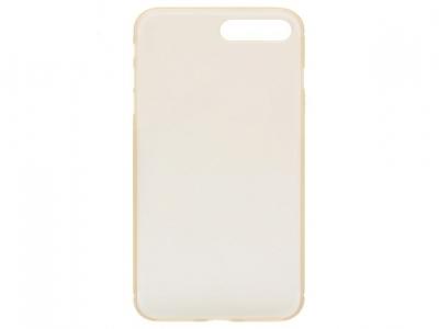 Ултра тънък  силиконов протектор за iPhone 7 Plus / 8 Plus- Прозрачен Злато