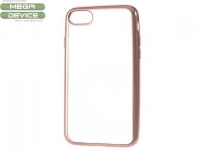 Ултра тънък  силиконов протектор за iPhone 7 4.7 Inch - Розово Злато