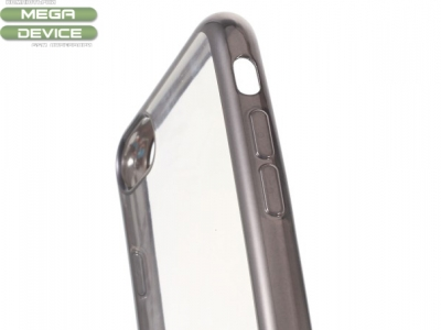 Ултра тънък силиконов протектор с лайсна за  iPhone 7 / 8 , Сив