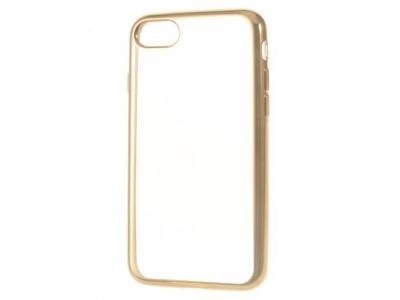 Ултра тънък силиконов протектор за iPhone 7 / 8 - Злато