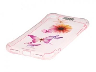 Ултра тънък силиконов протектор с индикатор за входящо позвъняване за iPhone 7 / 8 - Флорални мотиви