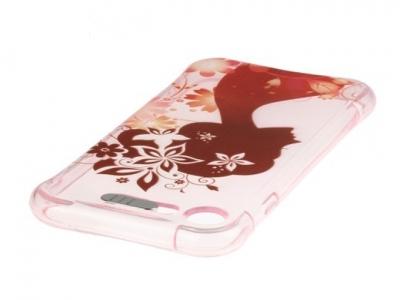 Ултра тънък силиконов протектор с индикатор за входящо позвъняване за  iPhone 7 / 8 - Флорални мотиви, силует