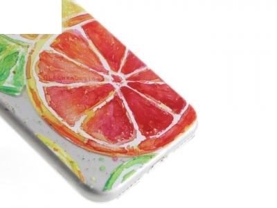 Ултра тънък силиконов протектор за iPhone 7 / 8 - Текстура - прозрачен - Плодове