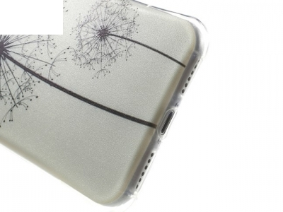 Air Cushion Drop-resistant TPU Soft Cover for iPhone 7 / 8 - Текстура- прозрачен - Глухарче