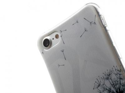 Ултра тънък силиконов протектор за iPhone 7 / 8 - Текстура - прозрачен - Глухарче