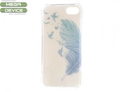 Ултра тънък силиконов протектор за iPhone7 / 8 - Текстура - Feather and Birds