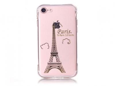 Ултра тънък  силиконов протектор за iPhone 7 4.7 inch - Прозрачен - Париж Айфелова кула