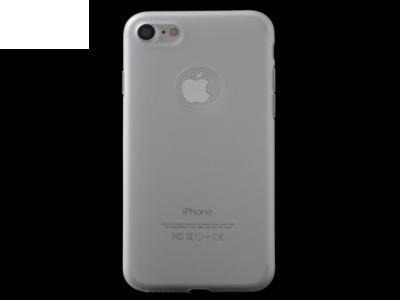 Ултра тънък  силиконов протектор за iPhone 7 / 8 - Бял
