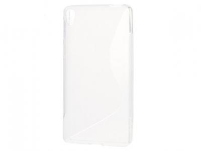 Ултра тънък силиконов протектор Sony Xperia E5 - Прозрачен