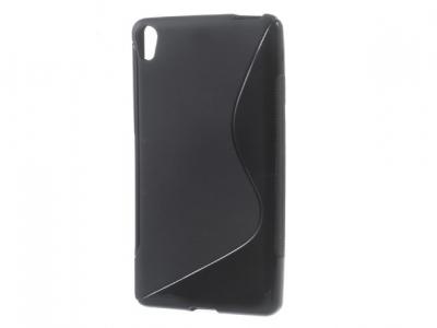 Ултра тънък силиконов протектор S- line за Sony Xperia E5 - Черен