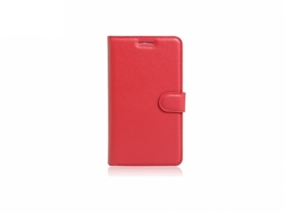 Калъф тефтер за Alcatel OneTouch Pop 4 - Red