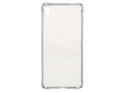 Ултра тънък, гланциран силиконов протектор за Sony Xperia E5 - Сив