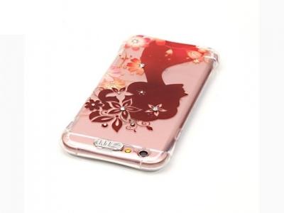 Ултра тънък силиконов протектор за  iPhone 6s 6 Прозрачен - Текстура - Момиче