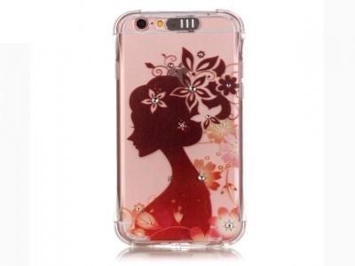Incoming Call Flash TPU Phone Case for iPhone 6s 6 Rhinestone Decoration - Beauty