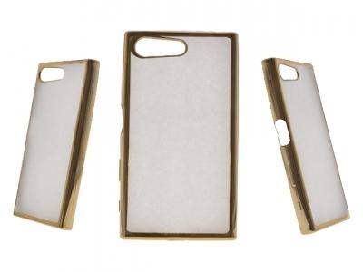 Силиконов калъф  с лайсна - CLEAR Sony Xperia X Compact - Gold