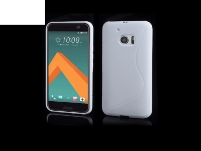 S Shape Soft TPU Gel Case for HTC 10 / 10 Lifestyle - White