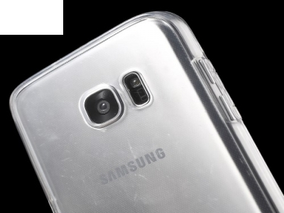 Силиконов калъф тефтер за Samsung Galaxy S7 edge 2016 G935 , Прозрачен