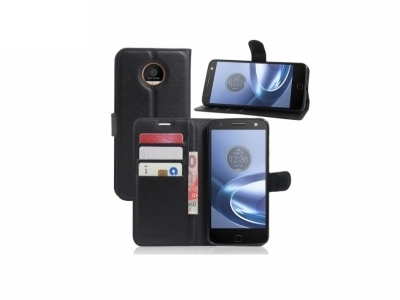 Калъф тефтер за Motorola Moto Z - Black