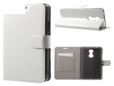 Калъф тефтер за Lenovo K6 Note - White