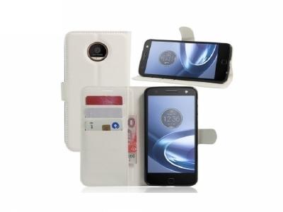Калъф тефтер за Motorola Moto Z Play - White