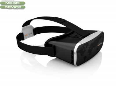 VR PARK V3 Virtual Reality VR 3D Video Glasses Headset with Black Remote Controller