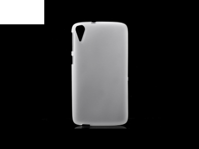 Double-sided Matte TPU Shell Case for HTC Desire 828 - White