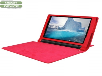 Litchi Texture PU Leather Protective Case for Lenovo Yoga Tab 3 8.0 - Red