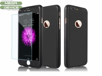 Калъф преден и заден PVC + Стъклен протектор - Iphone 7 / 8