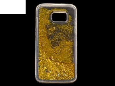 Силиконов Гръб - Samsung Galaxy S7 Edge G935 Liquid Stars - Gold