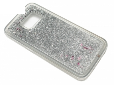 Силиконов Гръб - Samsung Galaxy S7 G930 Liquid Stars - Сребро
