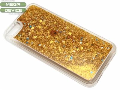 Силиконов Гръб - Iphone 7 / 8 Liquid Stars - Злато