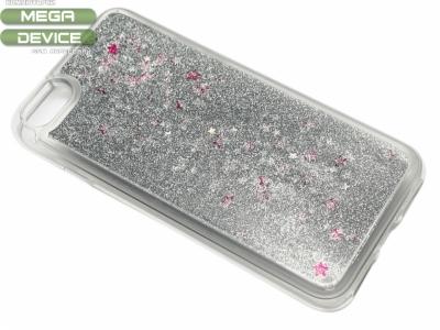 Силиконов Гръб - Iphone 7 / 8  Liquid Stars - Сребро