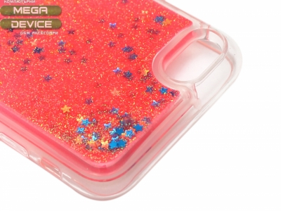 Силиконов Гръб - Iphone 7 / 8 Liquid Stars - Червен