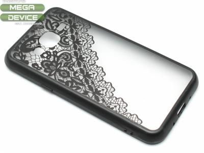 Силиконов Гръб - Samsung Galaxy J3 J320 (2016) - Модел 2 Дантела - Черна