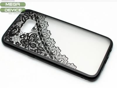 Силиконов Гръб - Samsung Galaxy S7 Edge G935 - Модел 2 Дантела - Черна