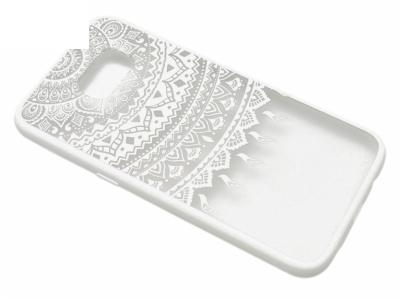 Силиконов Гръб - Samsung Galaxy S7 Edge G935 - Модел 1 Дантела - Бяла