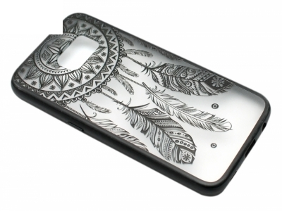 Силиконов Гръб - Samsung Galaxy S7 G930 - Модел 3 (Dream Catcher)  Черен